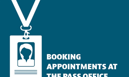 Booking appointments at the Pass Office